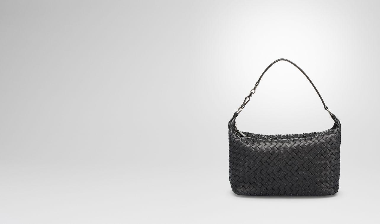 nero intrecciato nappa small shoulder bag landing
