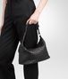 BOTTEGA VENETA SMALL SHOULDER BAG IN NERO INTRECCIATO NAPPA Shoulder or hobo bag Woman lp