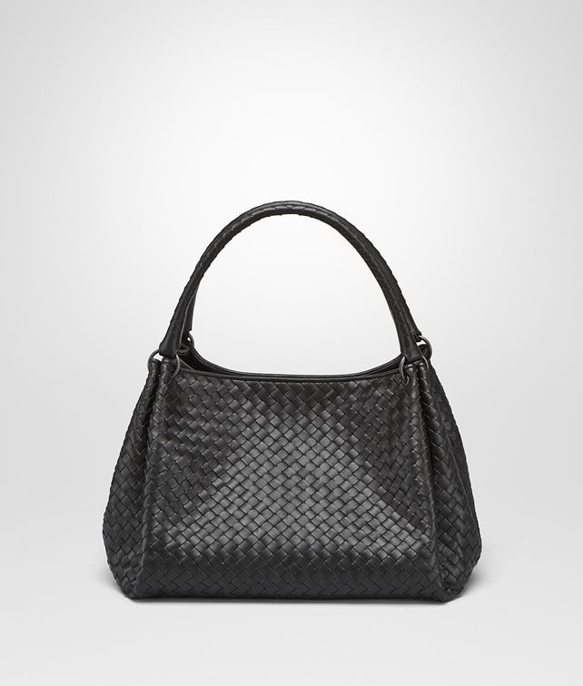 BOTTEGA VENETA PARACHUTE BAG IN NERO INTRECCIATO NAPPA Shoulder Bag Woman fp