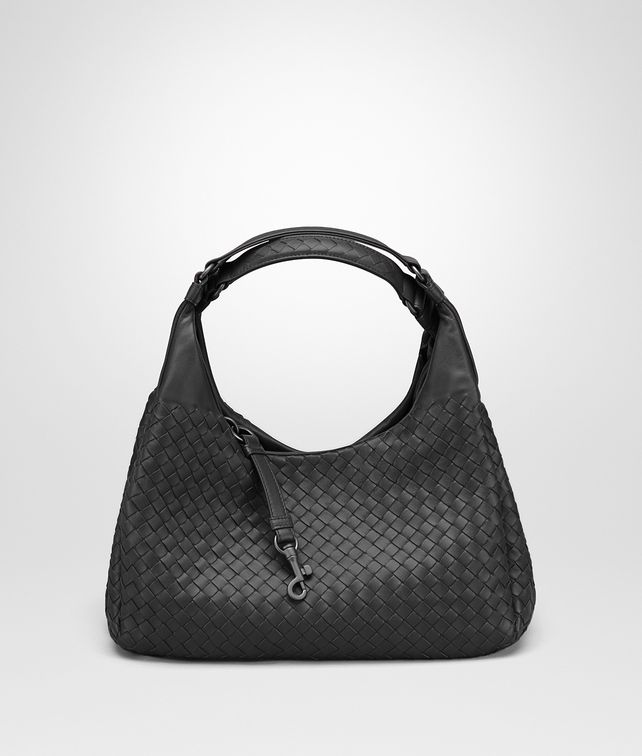 BOTTEGA VENETA MEDIUM CAMPANA BAG IN NERO INTRECCIATO NAPPA Shoulder Bag Woman fp