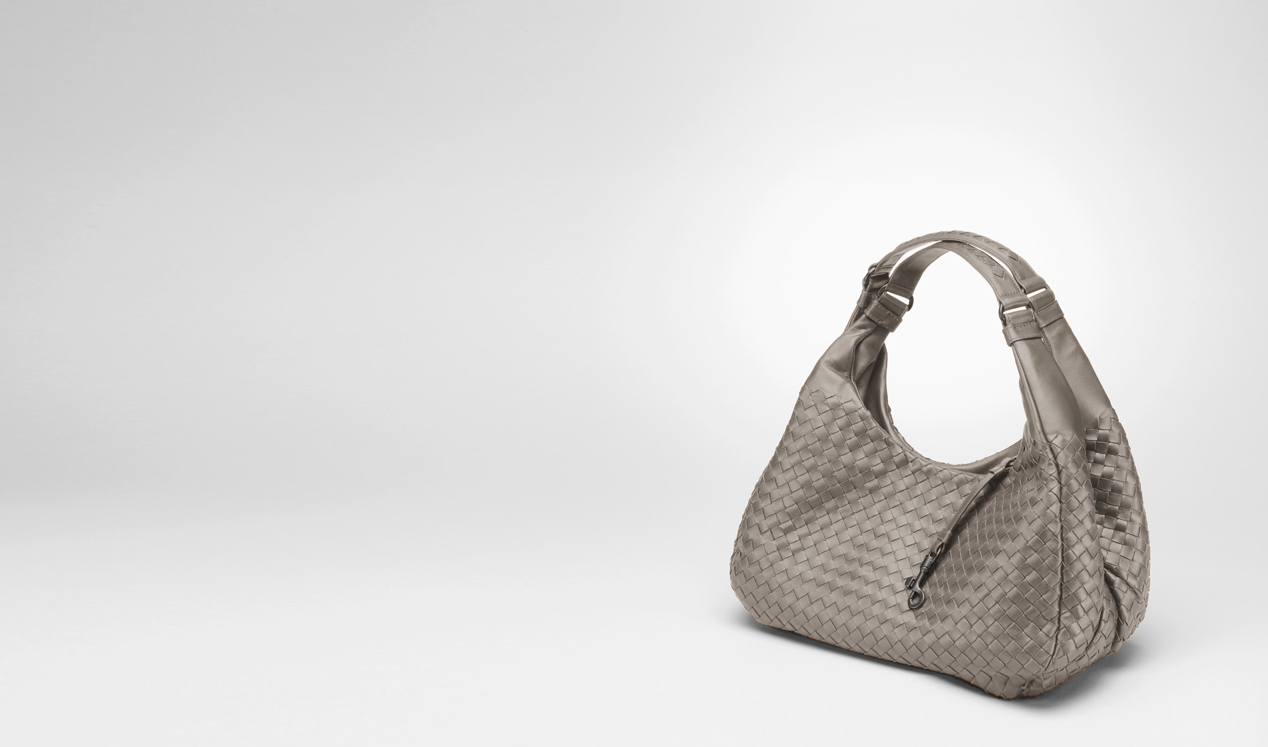 BOTTEGA VENETA Shoulder or hobo bag D Fume Intrecciato Nappa Campana Bag pl