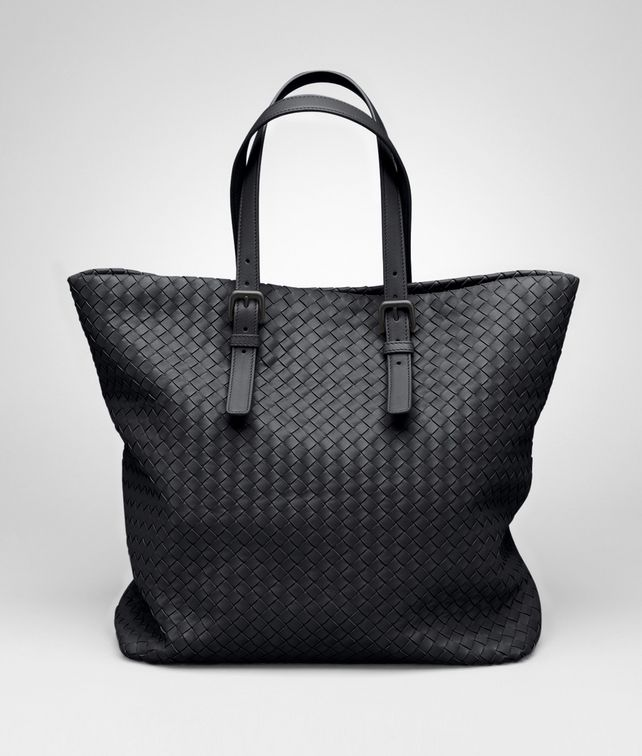 BOTTEGA VENETA Shopper Nera in Nappa Intrecciata Borsa Shopping D fp