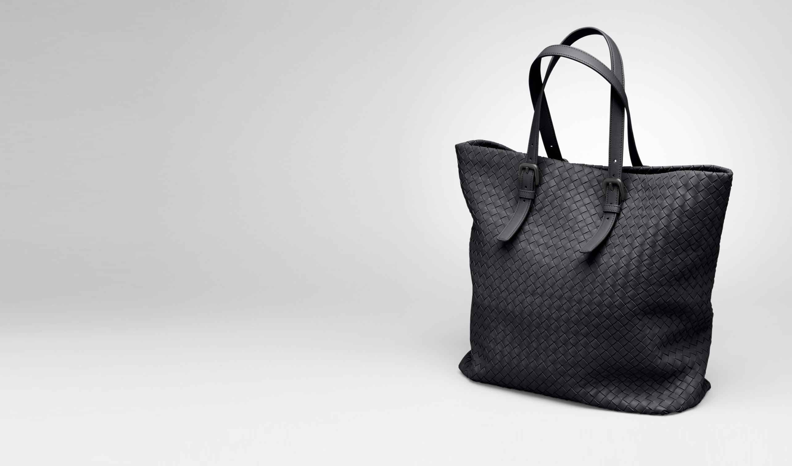 BOTTEGA VENETA Tote Bag D Nero Intrecciato Nappa Tote pl