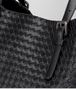 BOTTEGA VENETA GROSSE TOTE BAG AUS INTRECCIATO NAPPA IN NERO Shopper D ep