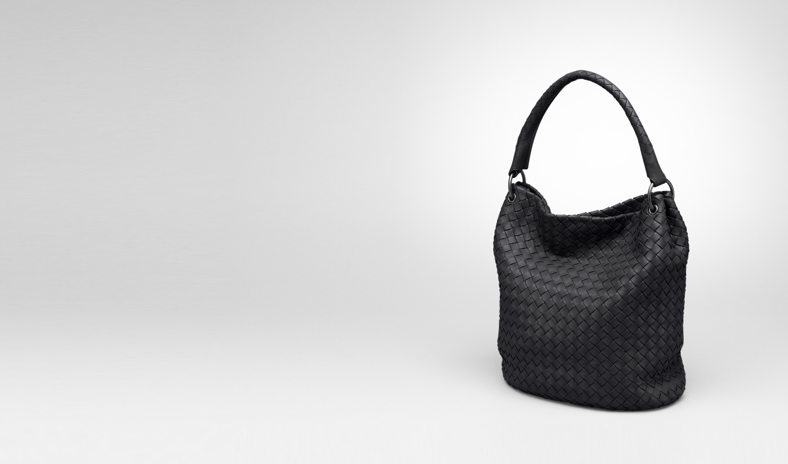BOTTEGA VENETA Shoulder or hobo bag D Nero Intrecciato Nappa Bag pl