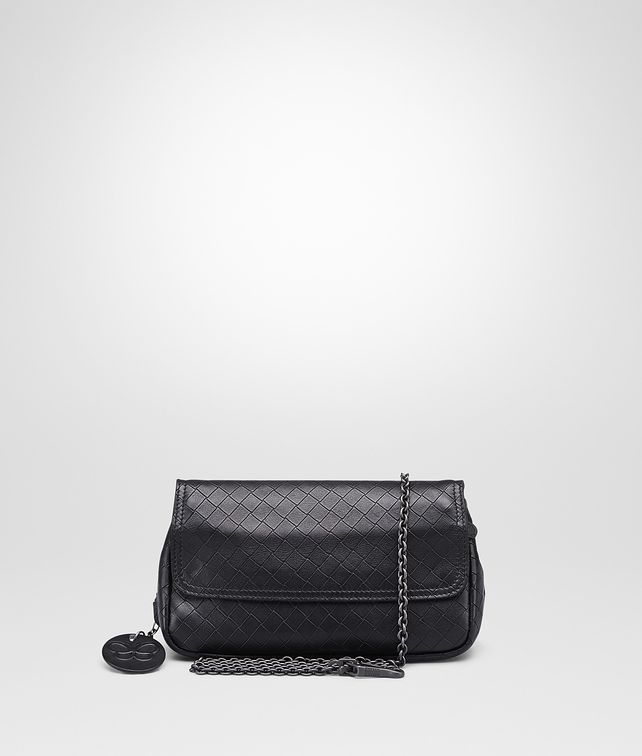 BOTTEGA VENETA Nero Intrecciomirage Messenger Mini Bag Crossbody bag D fp