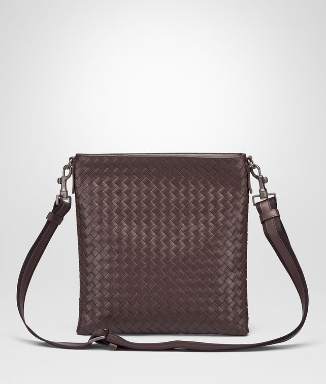 BOTTEGA VENETA Ebano Intrecciato VN Cross Body Bag Messenger Bag U fp