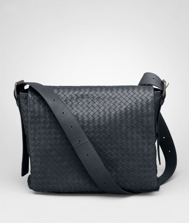 BOTTEGA VENETA MESSENGER BAG IN TOURMALINE INTRECCIATO CALF Messenger Bag U fp