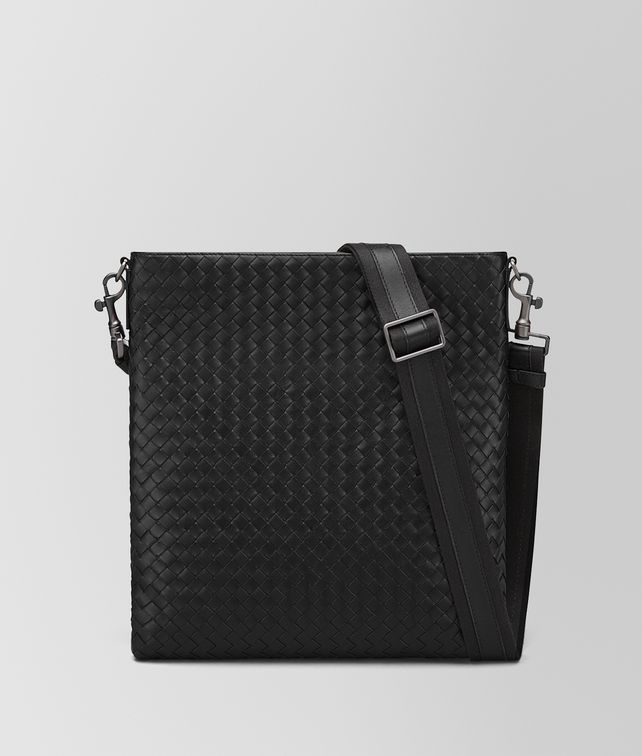 BOTTEGA VENETA GROSSE MESSENGER-TASCHE AUS INTRECCIATO VN IN NERO Messenger Tasche [*** pickupInStoreShippingNotGuaranteed_info ***] fp