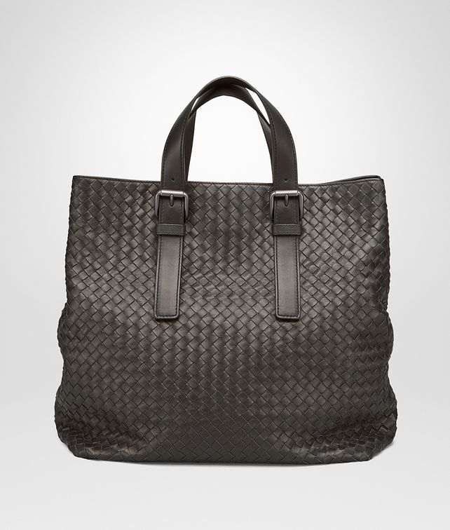 BOTTEGA VENETA TOTE BAG AUS INTRECCIATO KALBSLEDER IN MORO Shopper U fp