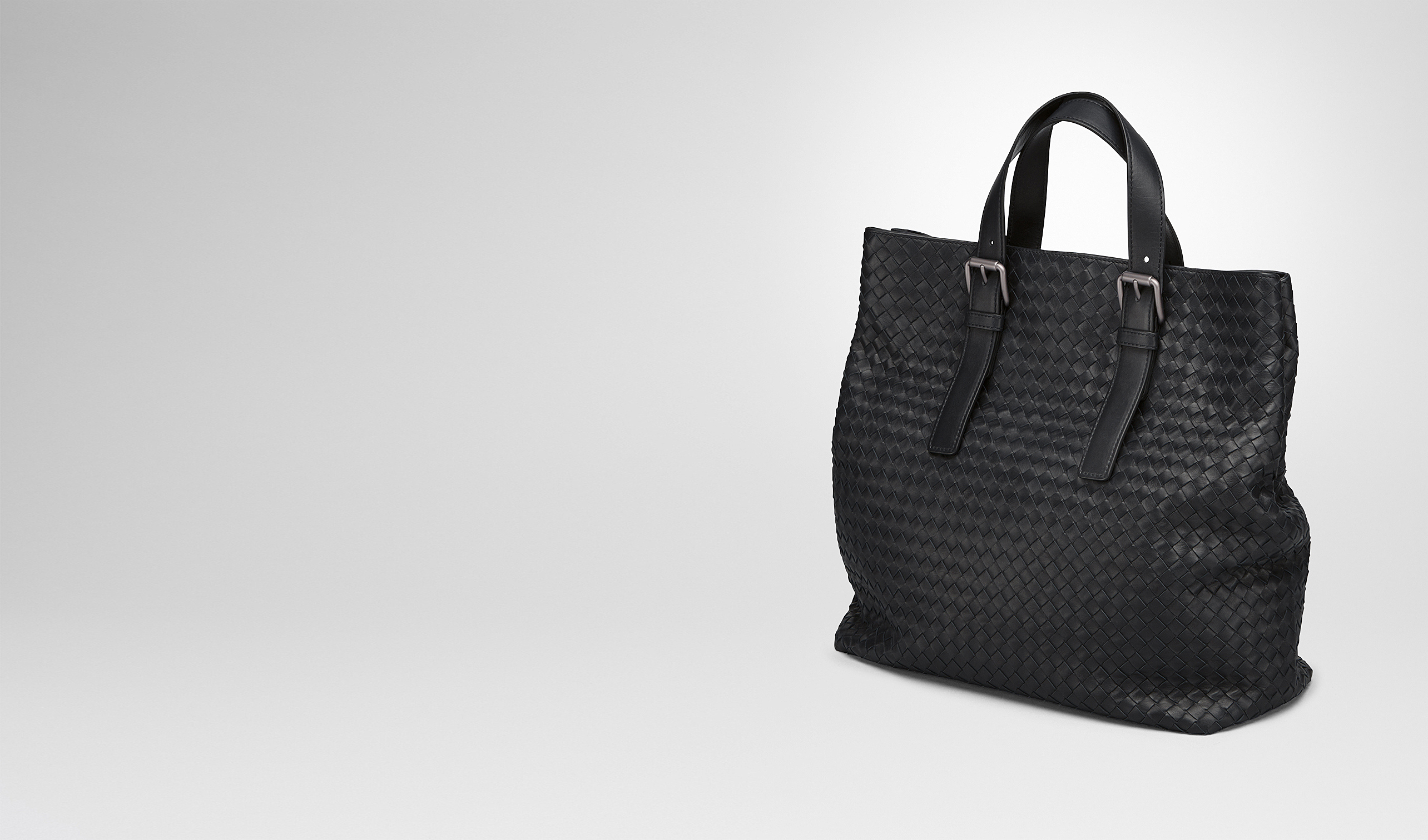 BOTTEGA VENETA Tote Bag U TOTE BAG IN NERO INTRECCIATO CALF pl