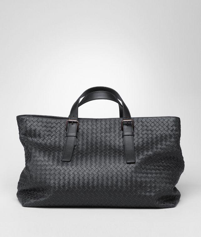 BOTTEGA VENETA Tote Bag aus leichtem Kalbsleder Nero Shopper U fp