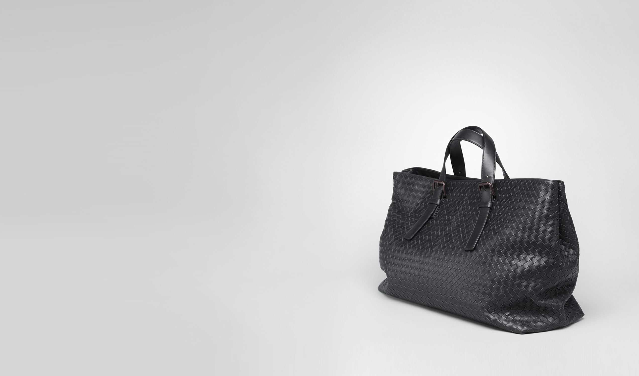 BOTTEGA VENETA Tote Bag U Nero Light Calf Tote pl
