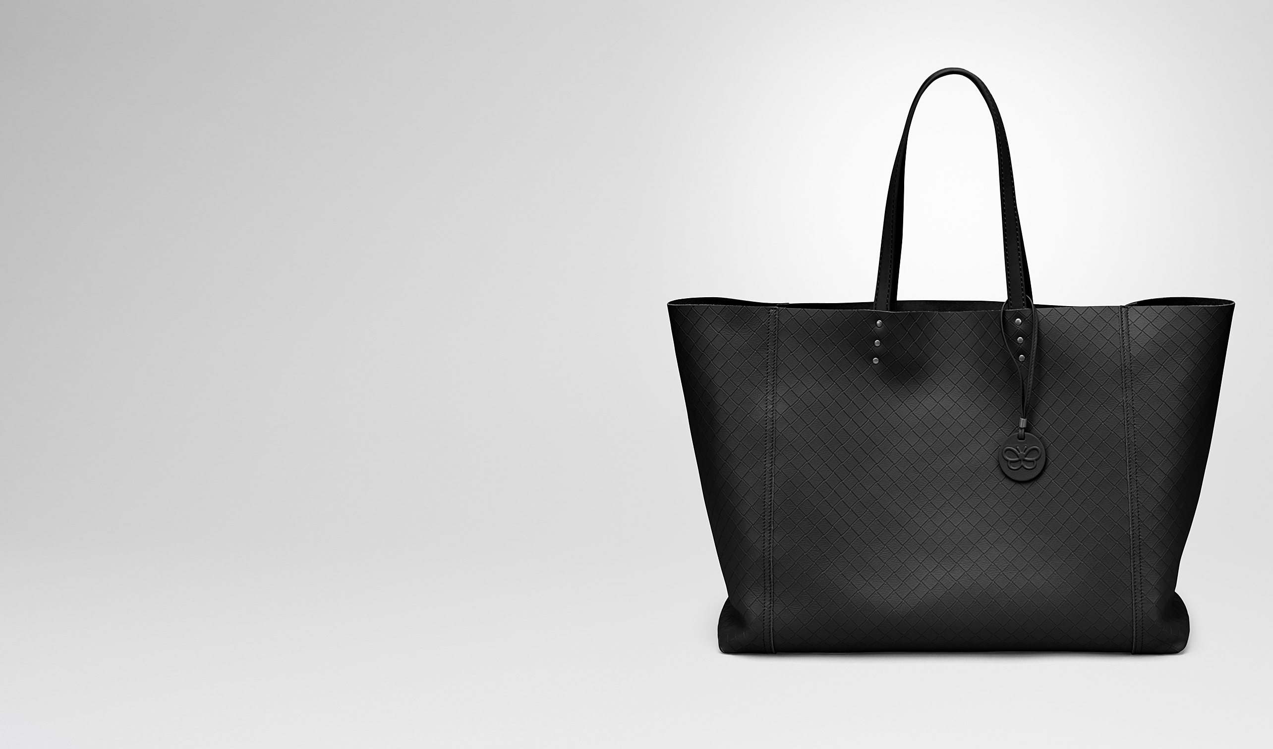 BOTTEGA VENETA Tote Bag D LARGE TOTE BAG IN NERO INTRECCIOMIRAGE pl