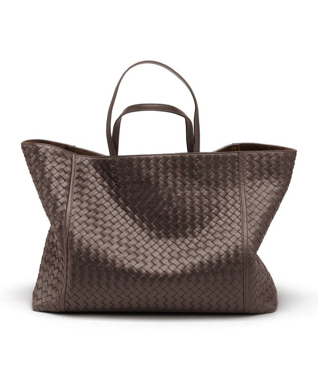 BOTTEGA VENETA TOTE BAG IN EBANO INTRECCIATO NAPPA Tote Bag D fp