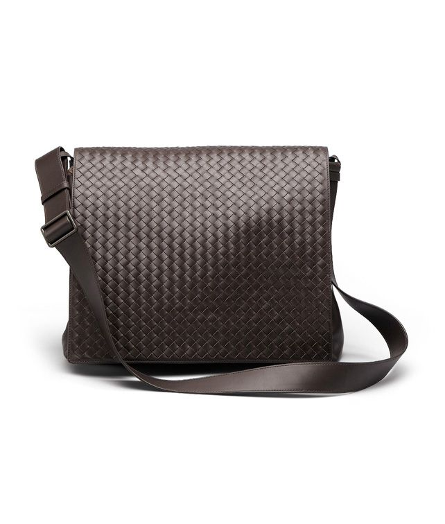 BOTTEGA VENETA MESSENGER BAG IN EBANO INTRECCIATO VN Crossbody bag D fp