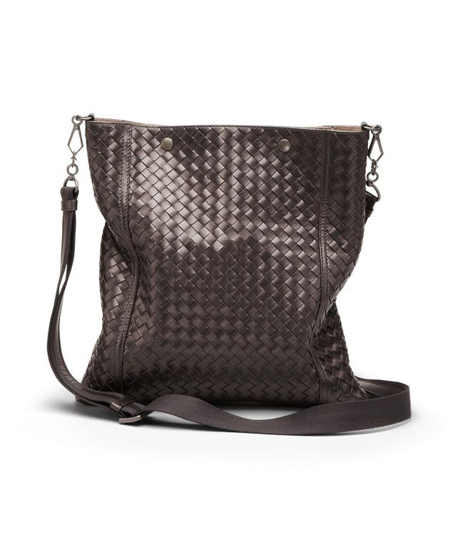 BOTTEGA VENETA TOTE BAG IN EBANO INTRECCIATO NAPPA  Crossbody bag D fp