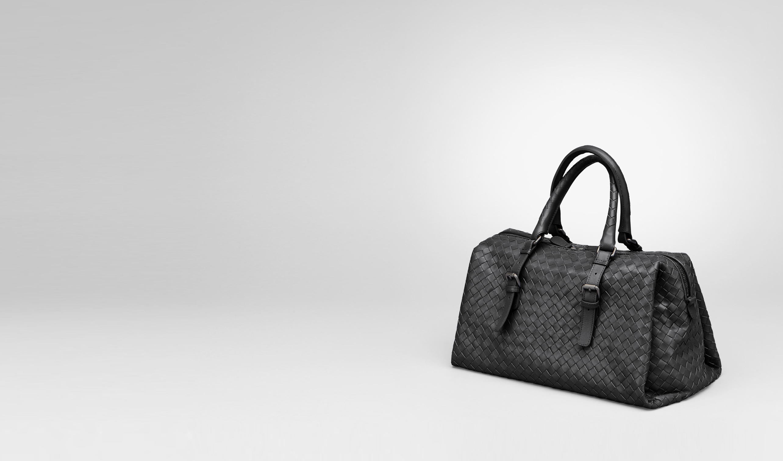 BOTTEGA VENETA Top Handle Bag D Nero Intrecciato Light Calf Bag pl