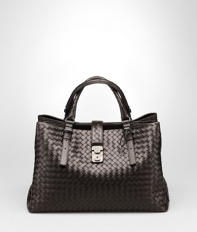 BOTTEGA VENETA Moro Light Calf Intrecciato Roma Bag Top Handle Bag D fp