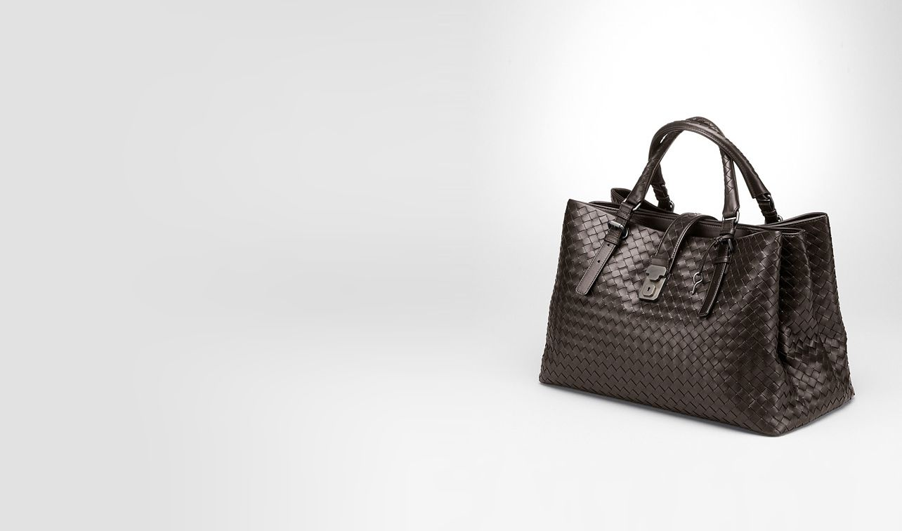 BOTTEGA VENETA Top Handle Bag D Moro Light Calf Intrecciato Roma Bag pl