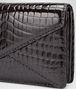 BOTTEGA VENETA Clutch Nera in Shiny Crocodile Pochette D ep
