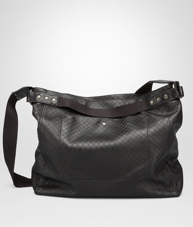 BOTTEGA VENETA MESSENGER BAG IN NERO INTRECCIOMIRAGE Messenger Bag U fp