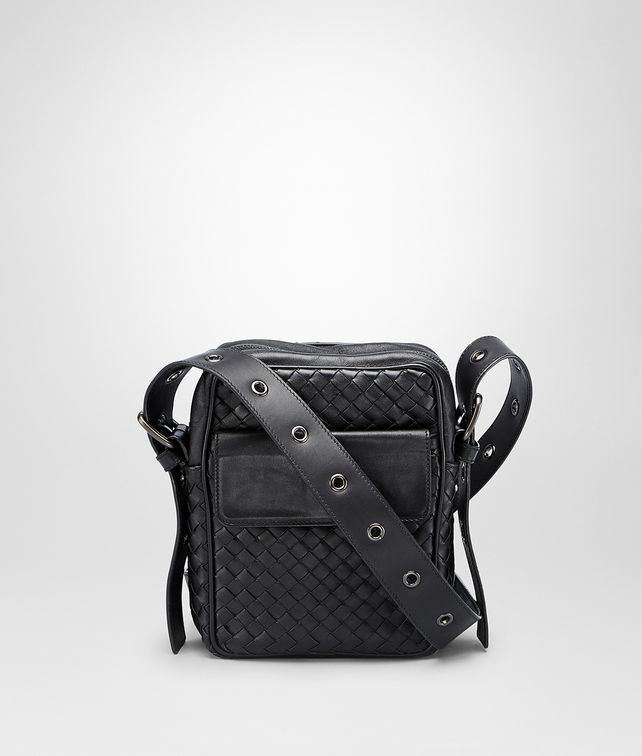 BOTTEGA VENETA Nero Intrecciato VN Cross Body Bag Messenger Bag U fp