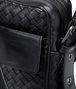 BOTTEGA VENETA Umhängetasche aus VN-Leder Intrecciato Nero Messenger Tasche U ep