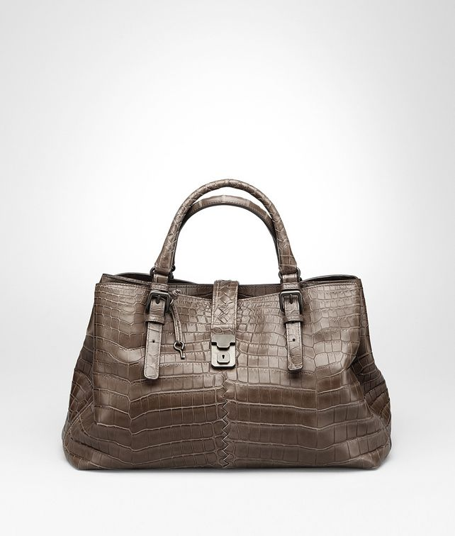 BOTTEGA VENETA MEDIUM ROMA BAG IN EDOARDO CROCODILE Top Handle Bag Woman fp