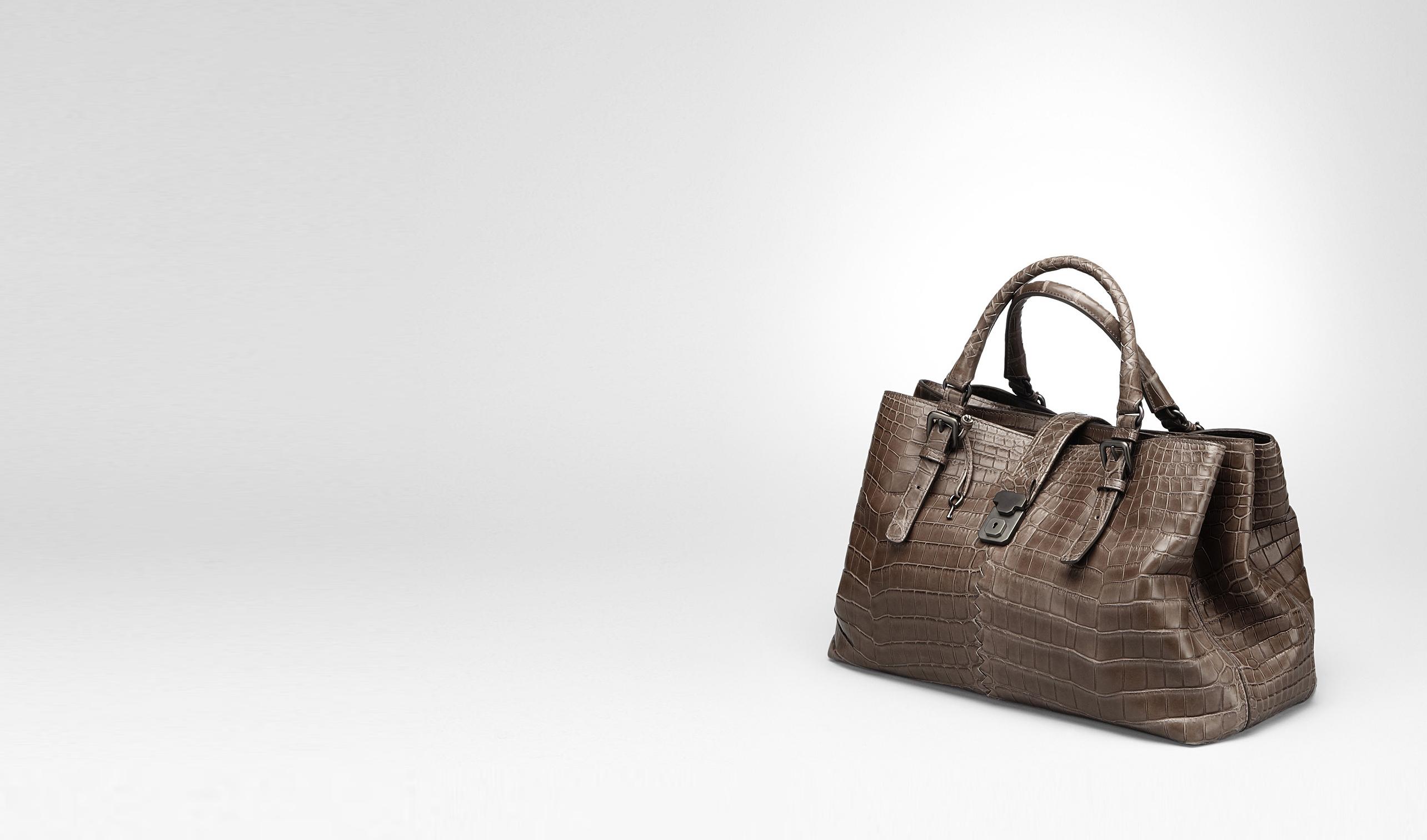 BOTTEGA VENETA Top Handle Bag D MEDIUM ROMA BAG IN EDOARDO CROCODILE pl