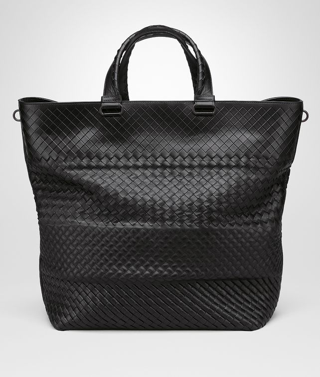 BOTTEGA VENETA TOTE BAG AUS INTRECCIO IMPERATORE IN NERO Shopper U fp