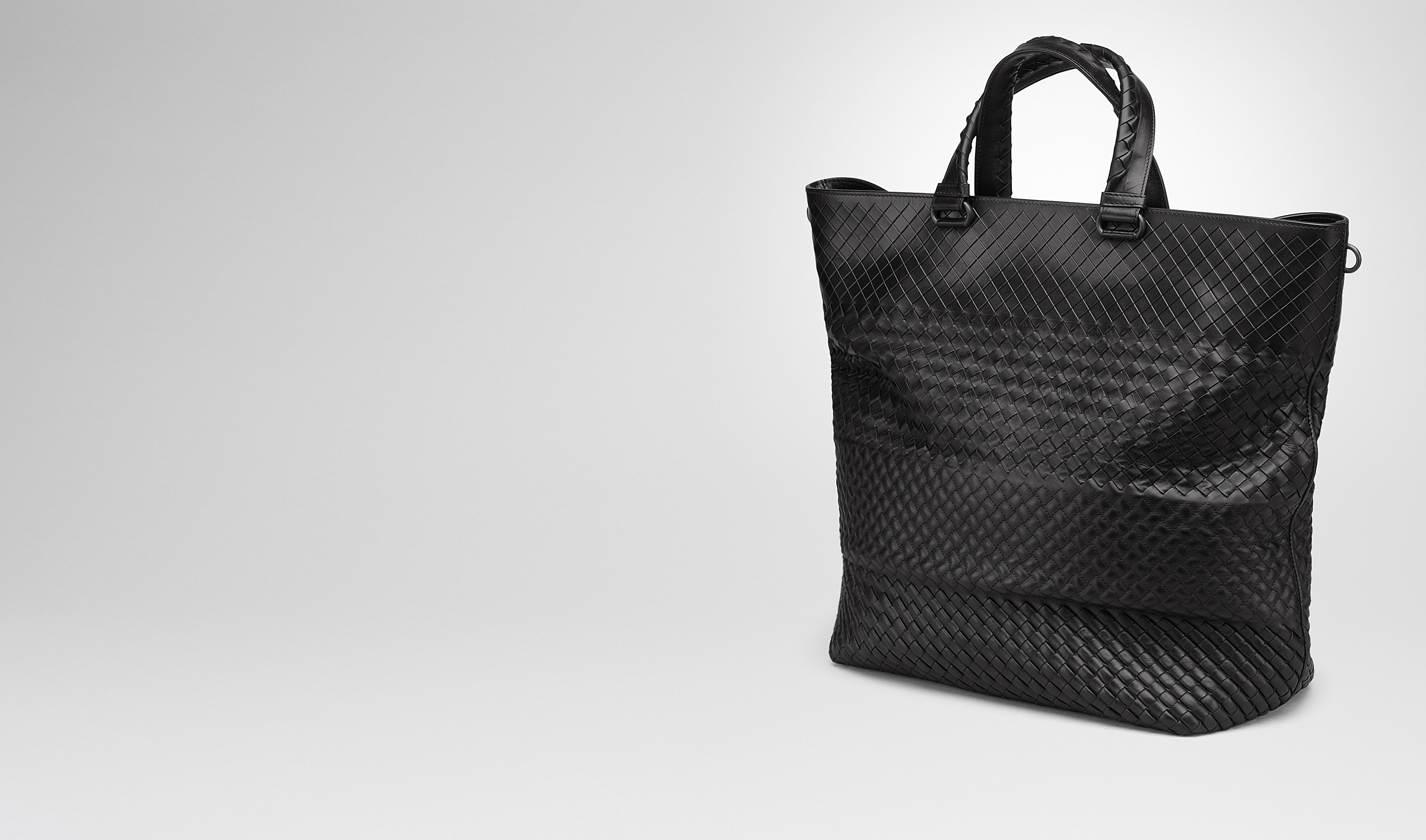 BOTTEGA VENETA Tote Bag U TOTE BAG IN NERO INTRECCIO IMPERATORE pl