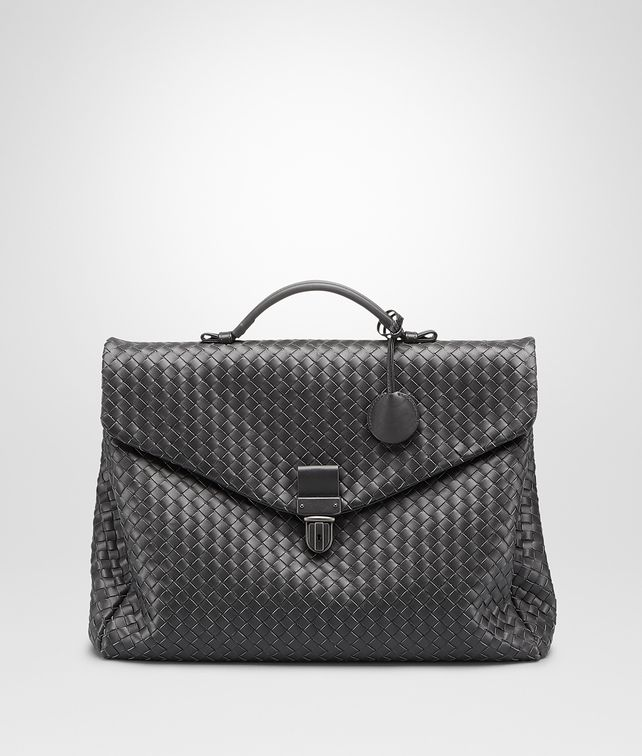 BOTTEGA VENETA KLEINE AKTENTASCHE AUS INTRECCIATO VN IN ARDOISE Business Tasche U fp