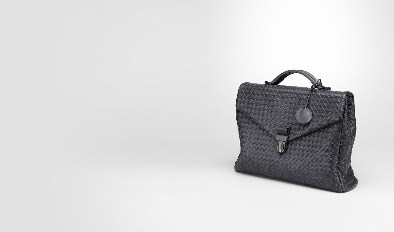 BOTTEGA VENETA Business bag U SMALL BRIEFCASE IN ARDOISE INTRECCIATO VN pl