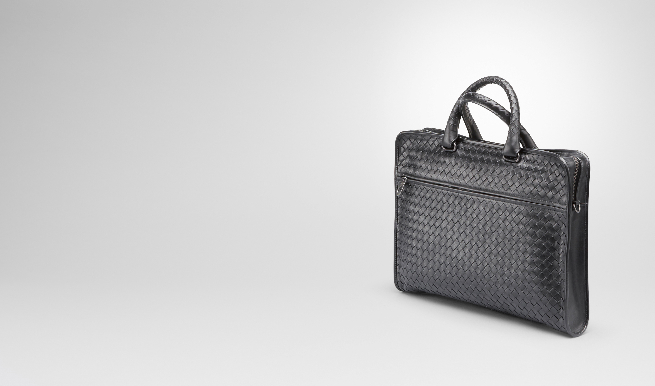 BOTTEGA VENETA Business bag U BRIEFCASE IN ARDOISE INTRECCIATO CALF pl