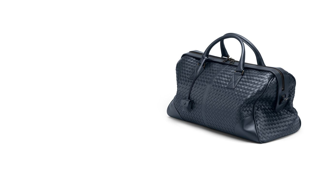 BOTTEGA VENETA Trolley and Carry-on bag E Vermillon Intrecciato VN Medium Duffel pl