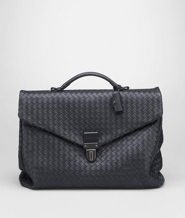BOTTEGA VENETA Aktentasche aus VN-Leder Intrecciato Ardoise Business Tasche U fp