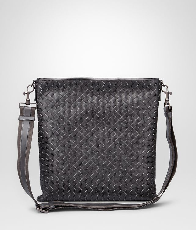 BOTTEGA VENETA LARGE MESSENGER BAG IN ARDOISE INTRECCIATO VN Messenger Bag U fp