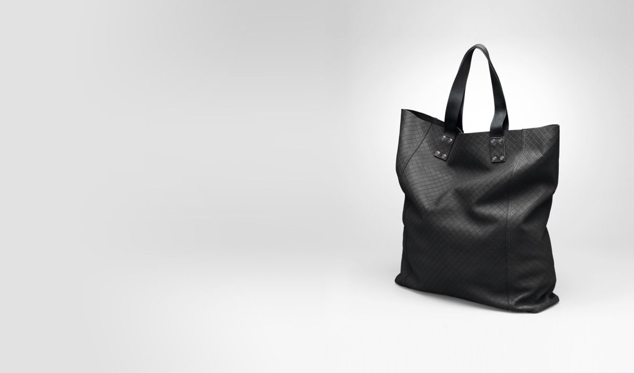 BOTTEGA VENETA Tote Bag U Nero Intrecciomirage Lave Tote pl
