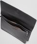 BOTTEGA VENETA DOCUMENT CASE IN NERO CALF, INTRECCIATO DETAILS Small bag U dp
