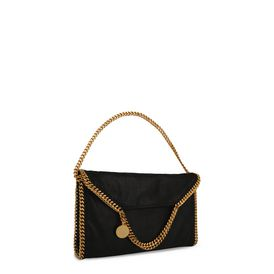 Falabella Fold Over Tote in Shaggy Deer