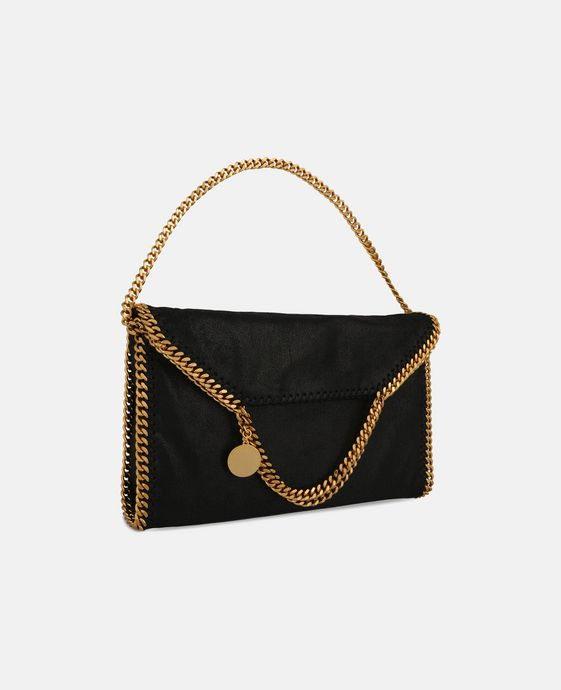 STELLA McCARTNEY Falabella Shaggy Deer Fold Over Tote Tote D h