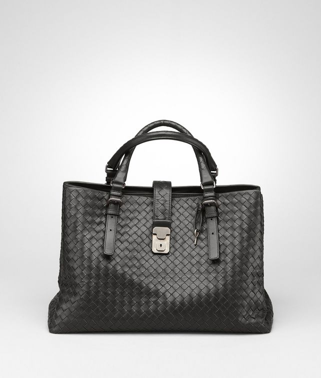 BOTTEGA VENETA Ardoise Light Calf Intrecciato Roma Bag Top Handle Bag D fp