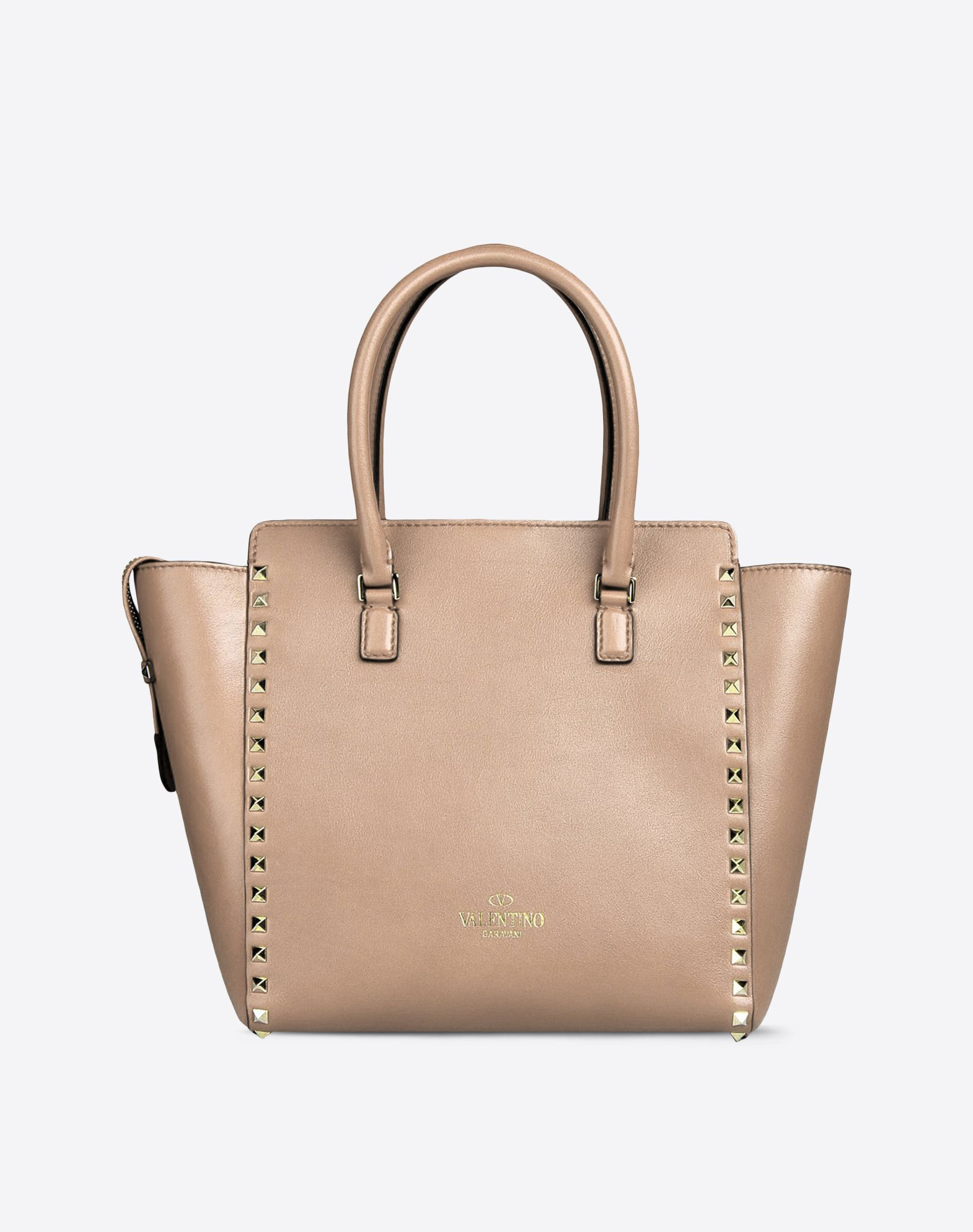 VALENTINO Solid color Framed closure Lined interior Double handle Metallic inserts Logo detail  45208640kk
