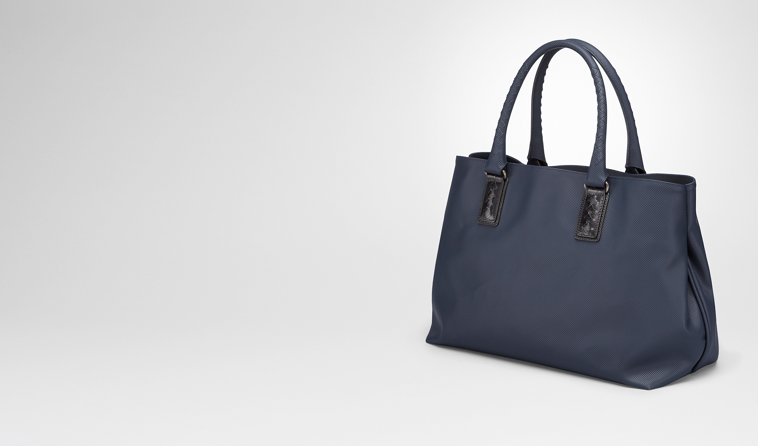 BOTTEGA VENETA Shopper E TOTE BAG IN DARK NAVY MARCOPOLO pl