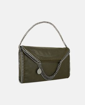 Tote bag Falabella à replier en shaggy deer olive