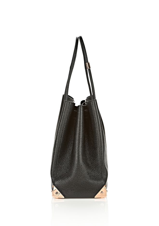 ALEXANDER WANG PRISMA LARGE TOTE IN PEBBLED BLACK WITH ROSE GOLD TOTE/DEL Adult 12_n_a