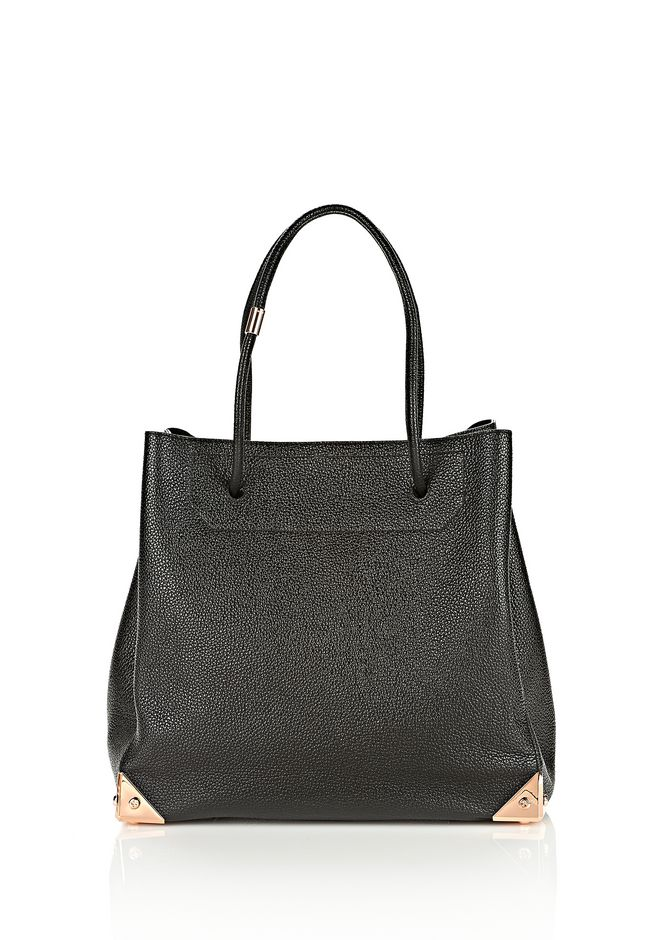ALEXANDER WANG PRISMA LARGE TOTE IN PEBBLED BLACK WITH ROSE GOLD TOTE/DEL Adult 12_n_f