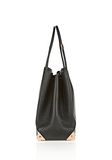 ALEXANDER WANG PRISMA LARGE TOTE IN PEBBLED BLACK WITH ROSE GOLD TOTE/DEL Adult 8_n_a