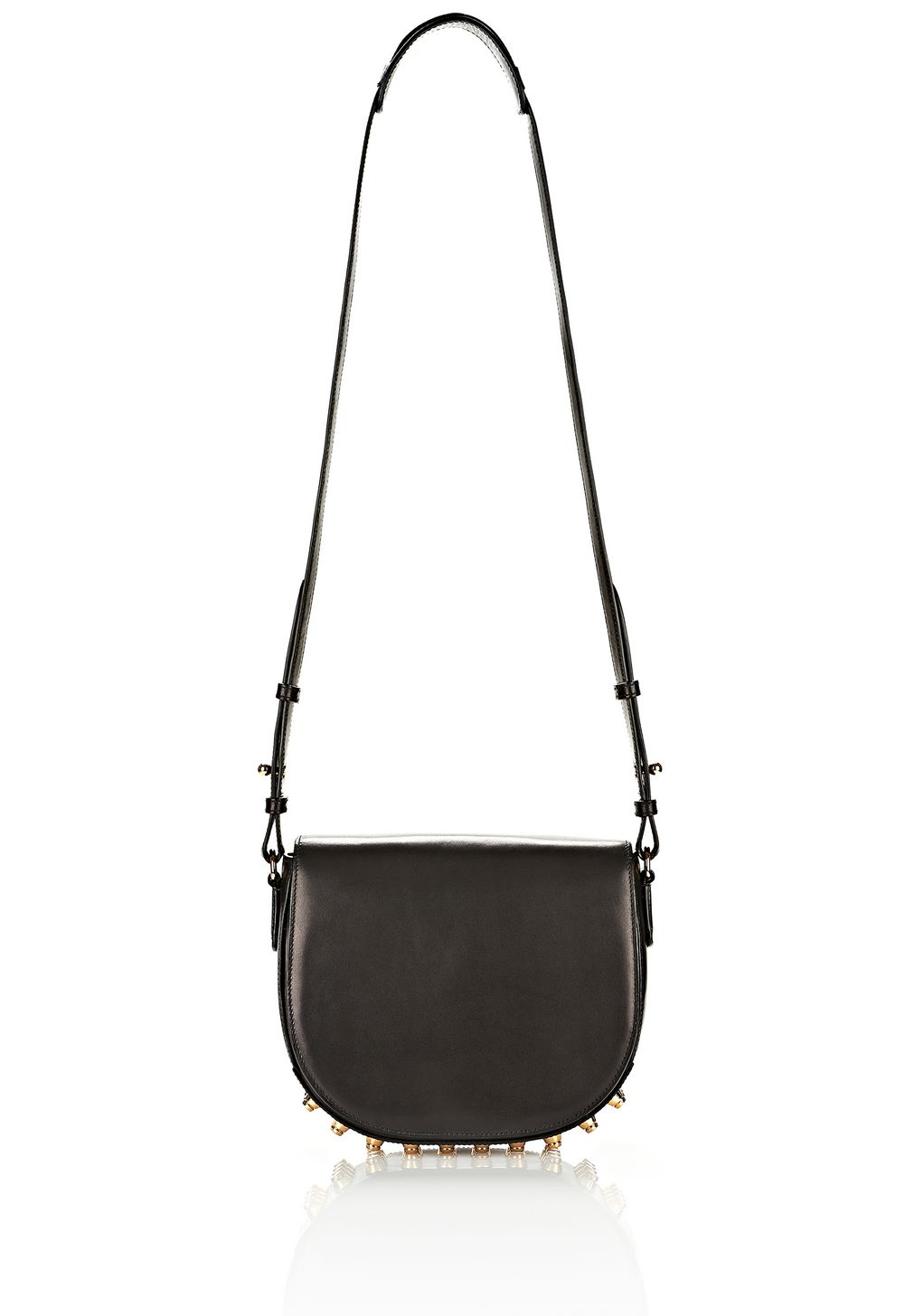 LIA IN BLACK WITH YELLOW GOLD | Shoulder Bag | Alexander Wang ...